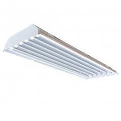 LED Low Bay - 4ft 6 Tube Industrial Lighting Fixture, 100-277V (Fixture Only)
