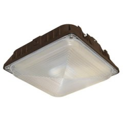 LED Canopy Light - Square 40 Watt, 4800 Lumens, 100-277V