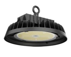 Product photo of a round UFO shaped Apollo HEA high bay lighting fixture.