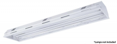 LED Low Bay - 4ft 4 Tube Industrial Lighting Fixture, 100-277V (Fixture Only)
